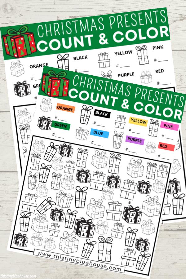 Free Printable Christmas Gift I Spy Game For Kids
