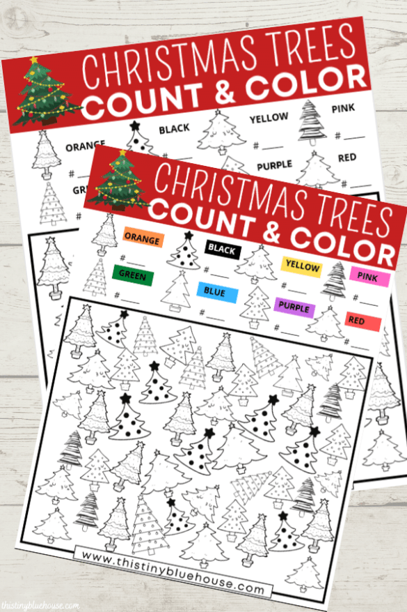 FREE Printable Christmas Tree I Spy Game