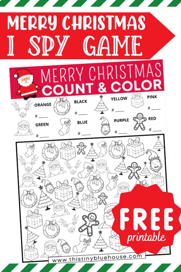 Merry Christmas I Spy (Free Printable)