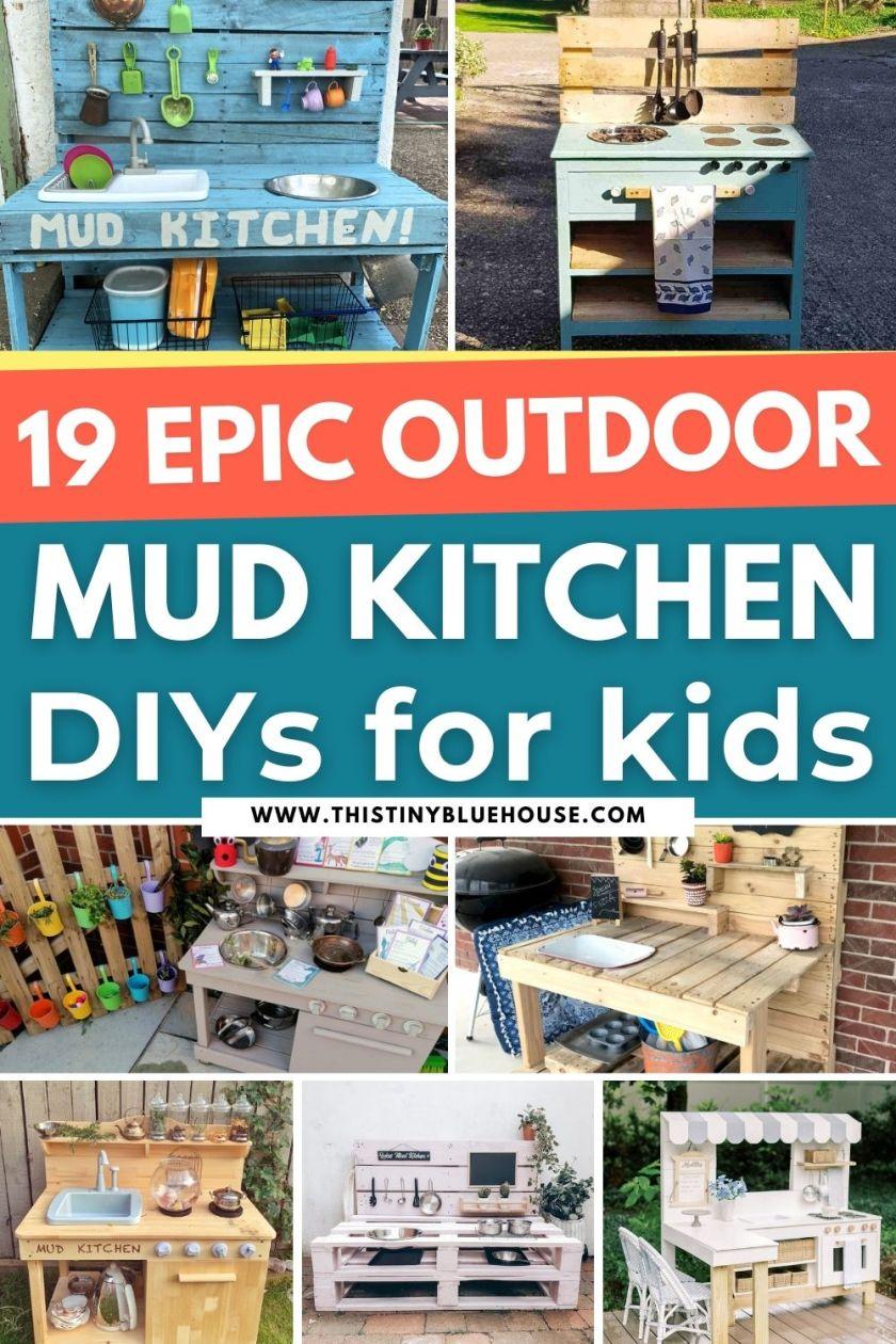 19 Epic DIY Mud Kitchens For Kids