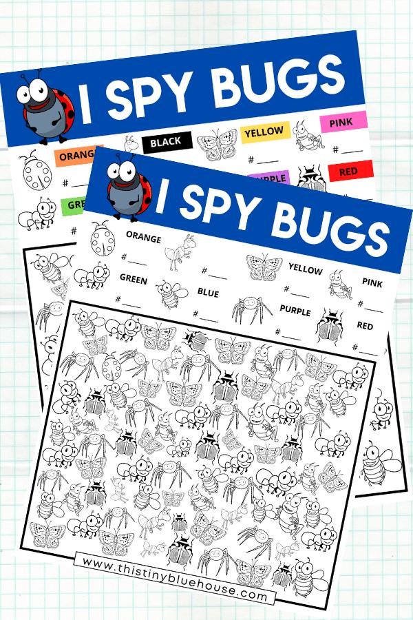 I Spy Bugs {Free Printable Game For Kids}