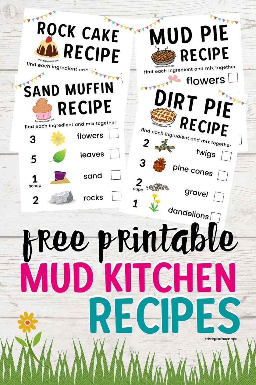 free printable mud kitchen recipes for kids