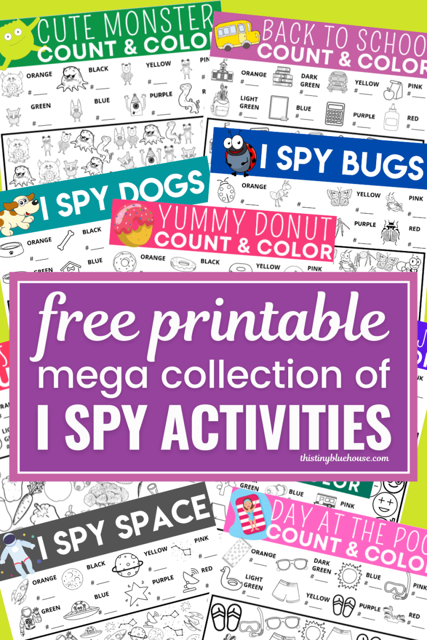 The Ultimate Collection of Free Printable I Spy Games For Kids
