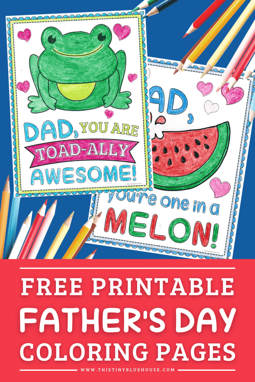 Father's day coloring sheets