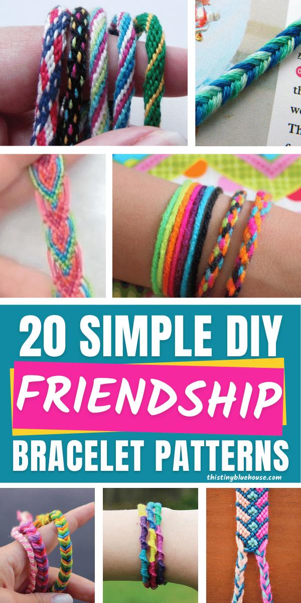 simple friendship bracelet patterns and tutorials