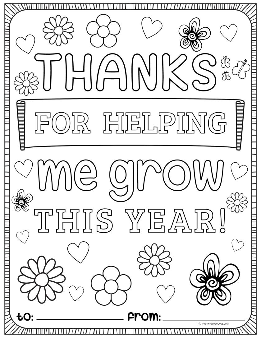 teacher appreciation coloring pages printable