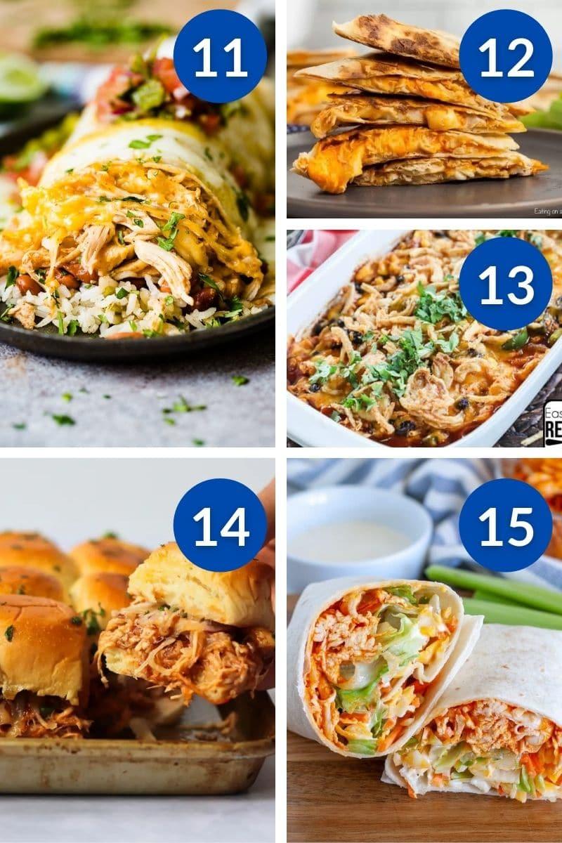 dinner ideas made with rotisserie chicken