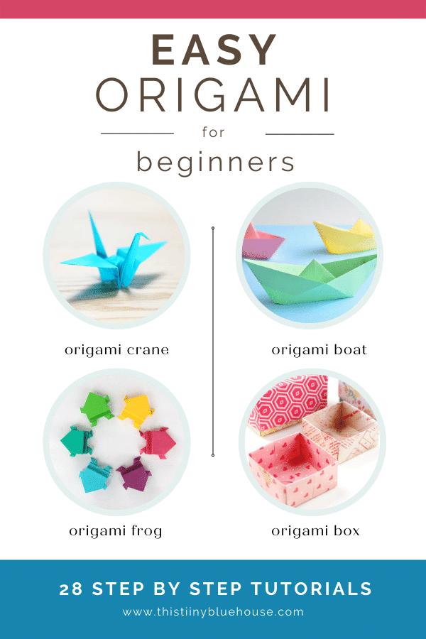 simple beginner folded paper origami crafts