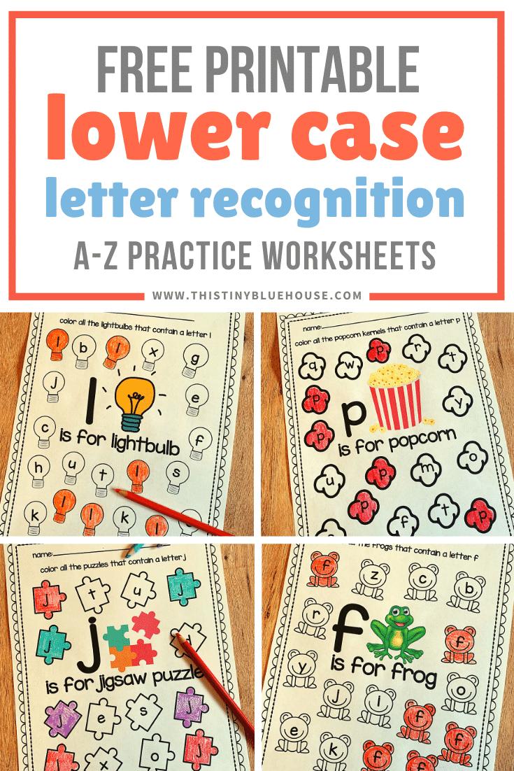 alphabet worksheet for kindergarten