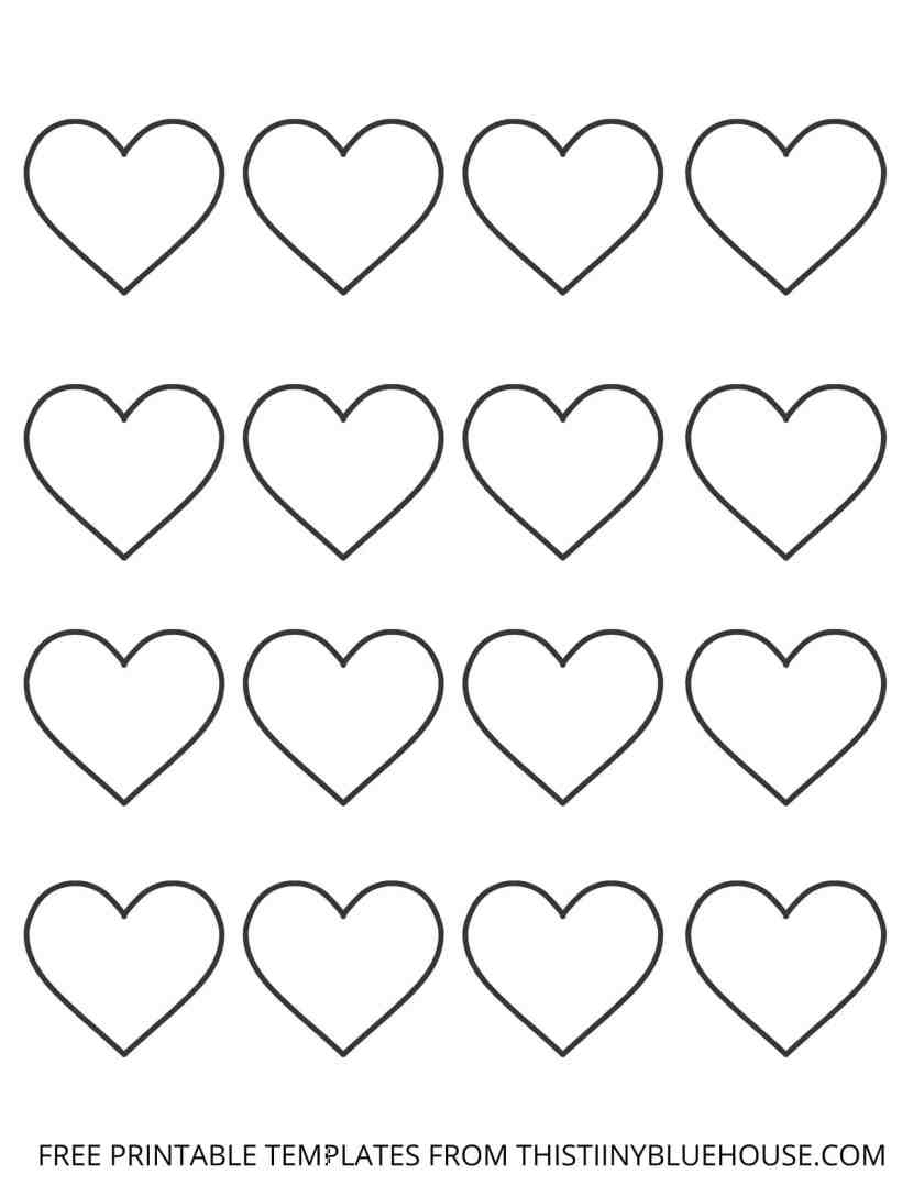 Free Printable Heart Outline Templates (6 different heart templates)