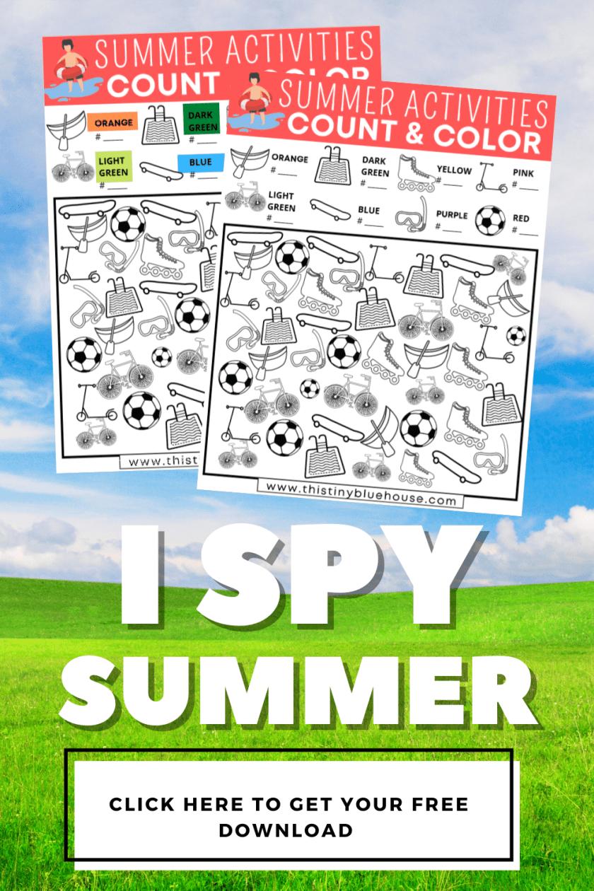 I Spy Summer Activities