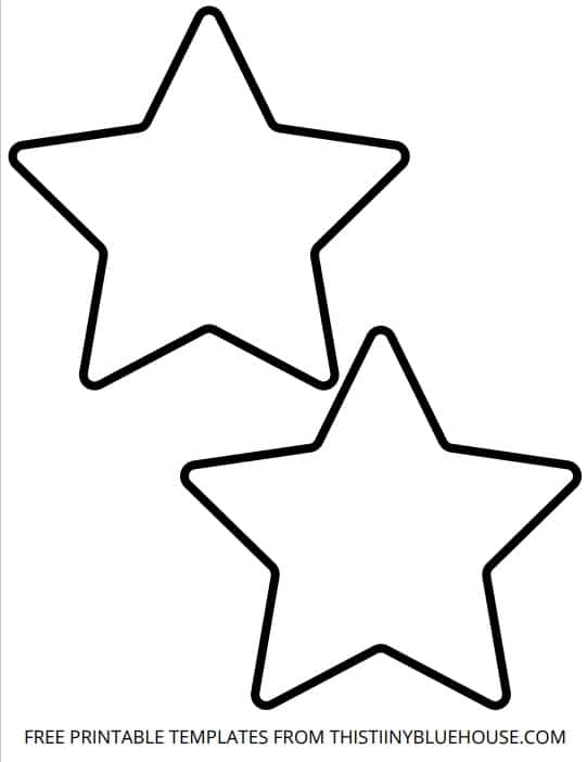 large star template