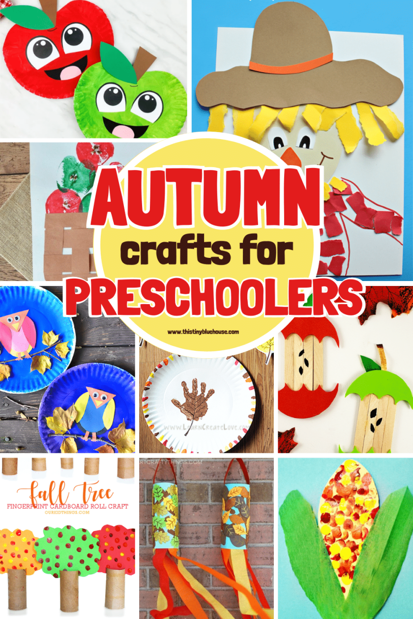 14 Adorable Low Mess Fall Crafts For Preschoolers