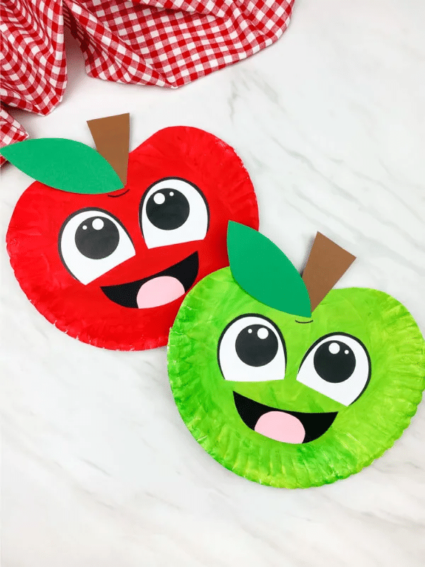paper plate fall craft for preschoolers