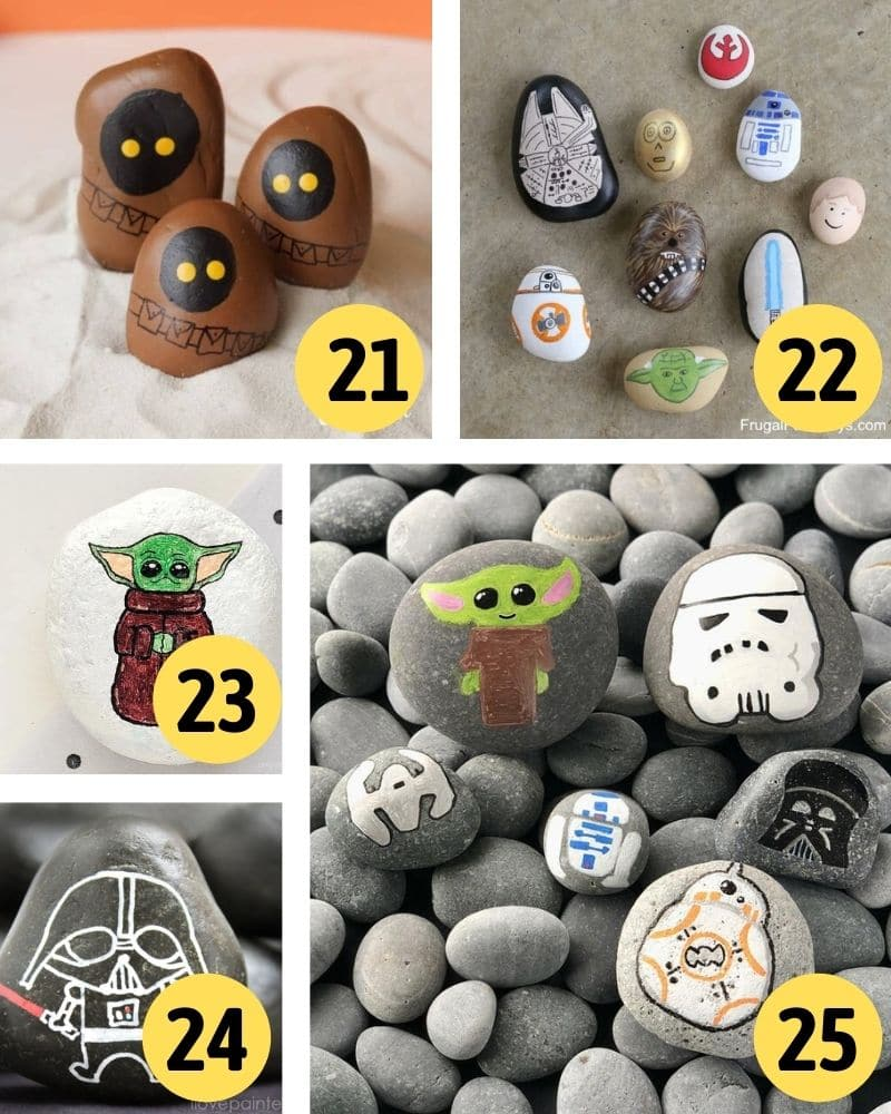 painted rock star wars crafts