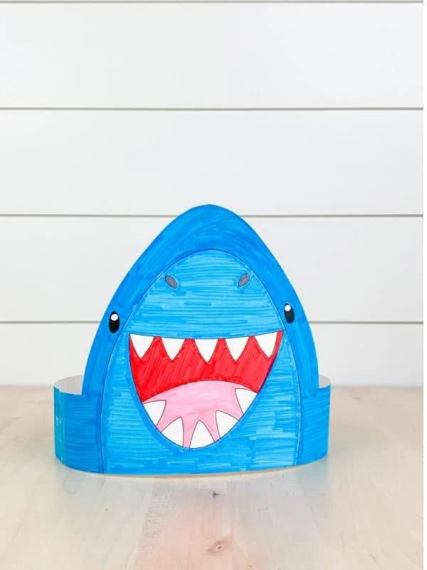 free printable shark craft printable