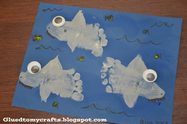 shark crafts for toddlers