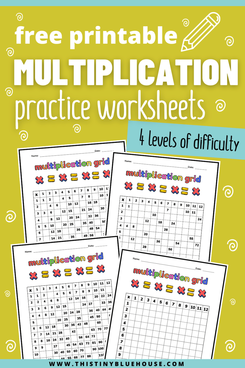 multiplication grid free printable