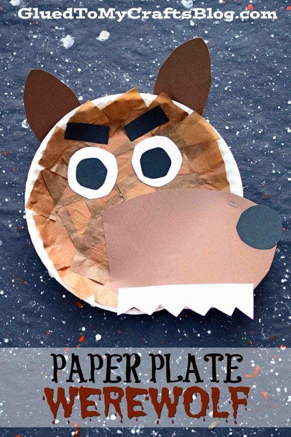 Paper Plate Werewolf Craft