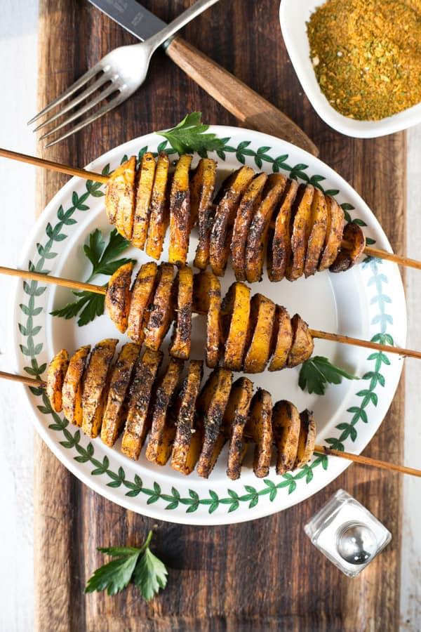 spiralized potatoes