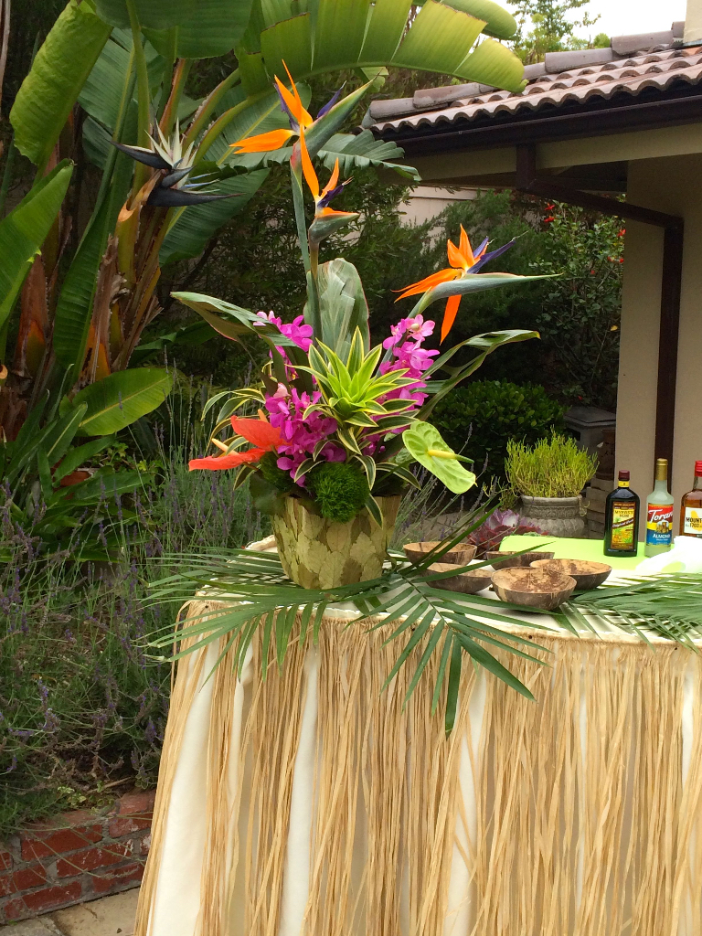 Thistle Dew Floral  Event Design  TropicalThemed Party