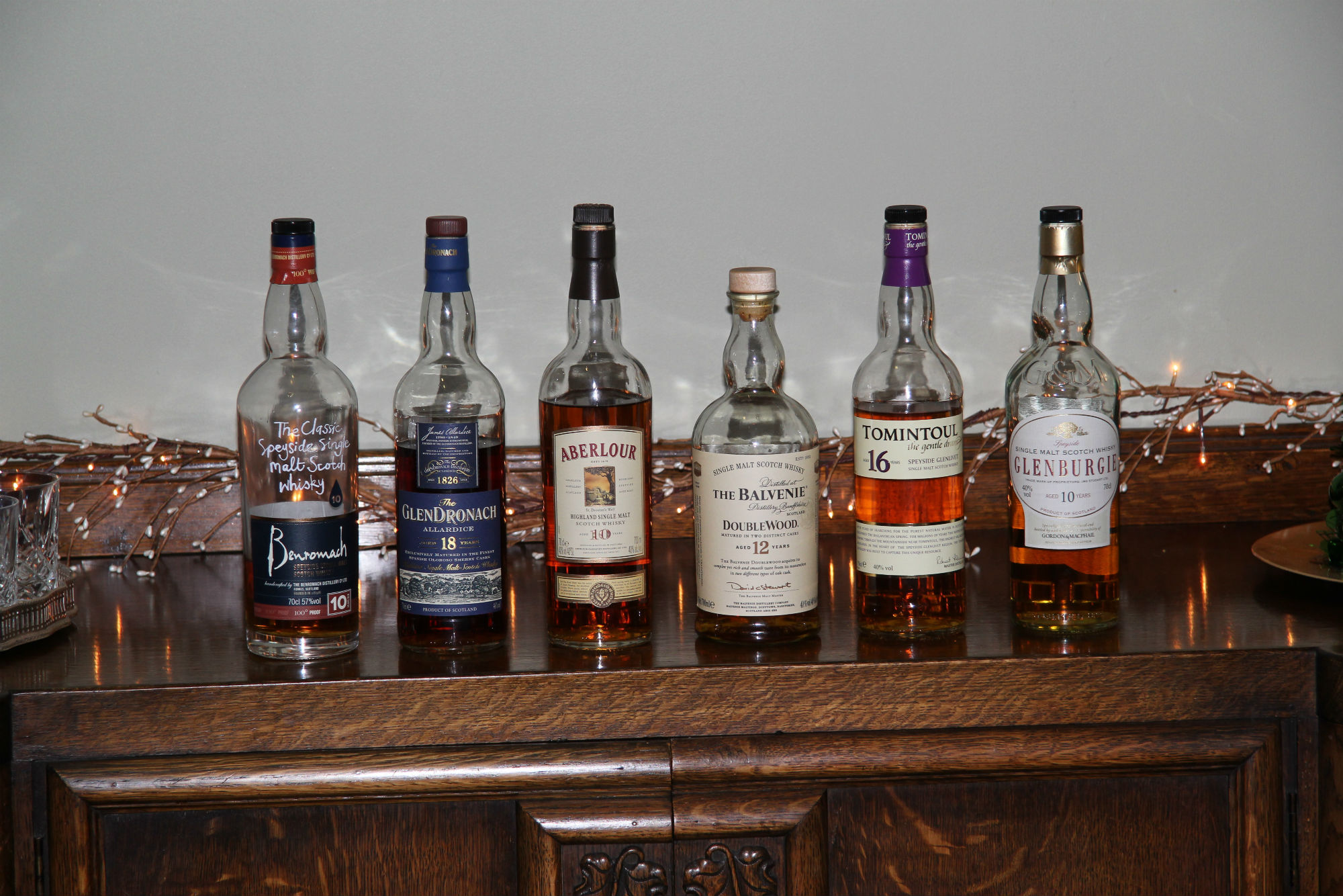 Some local Malt Whiskies