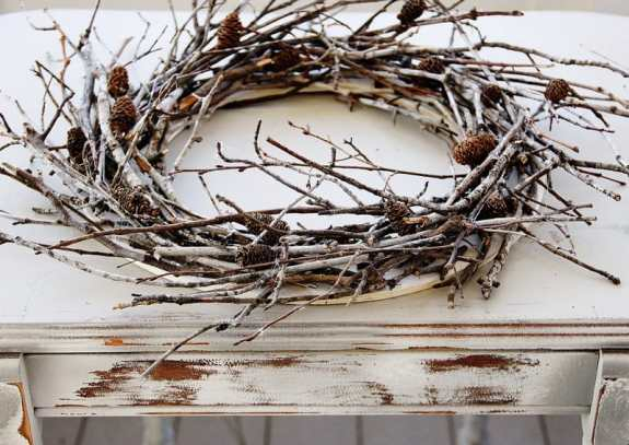 branch wreath tutorial