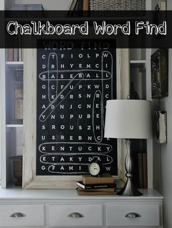 Make Your Own Word Find Chalkboard