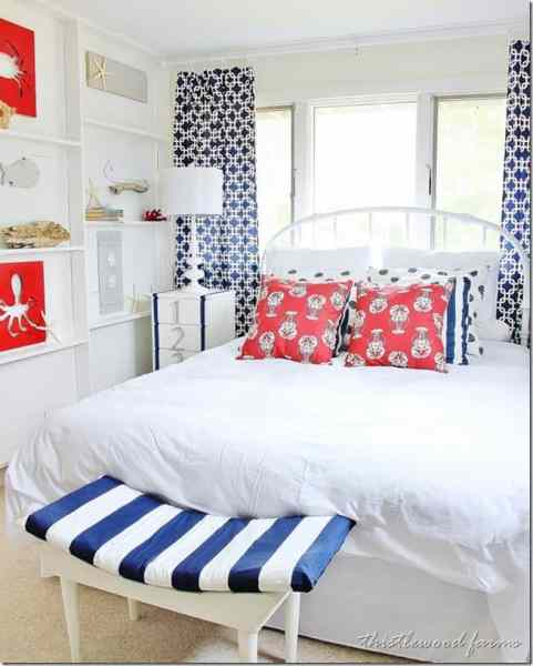 beach bedroom decorating ideas Before and After Beach House Bedroom - Thistlewood Farm