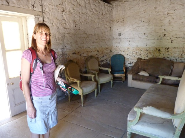 clare in an old house at Murchison House Station, Kalbarri, Western Australia