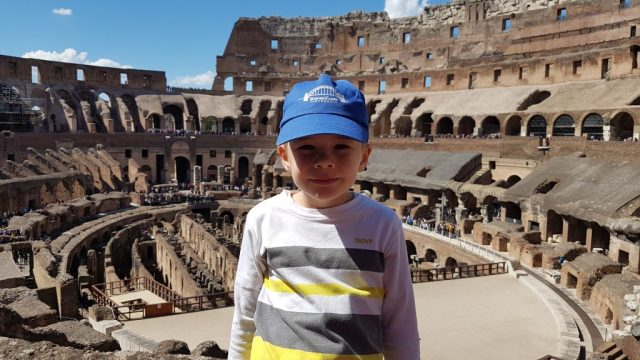 Casper at the Rome colleseum