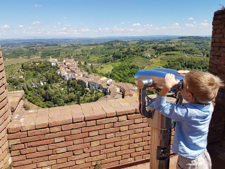 The view from the Torre di Federico II (Tower of Frederick II) in San Miniato