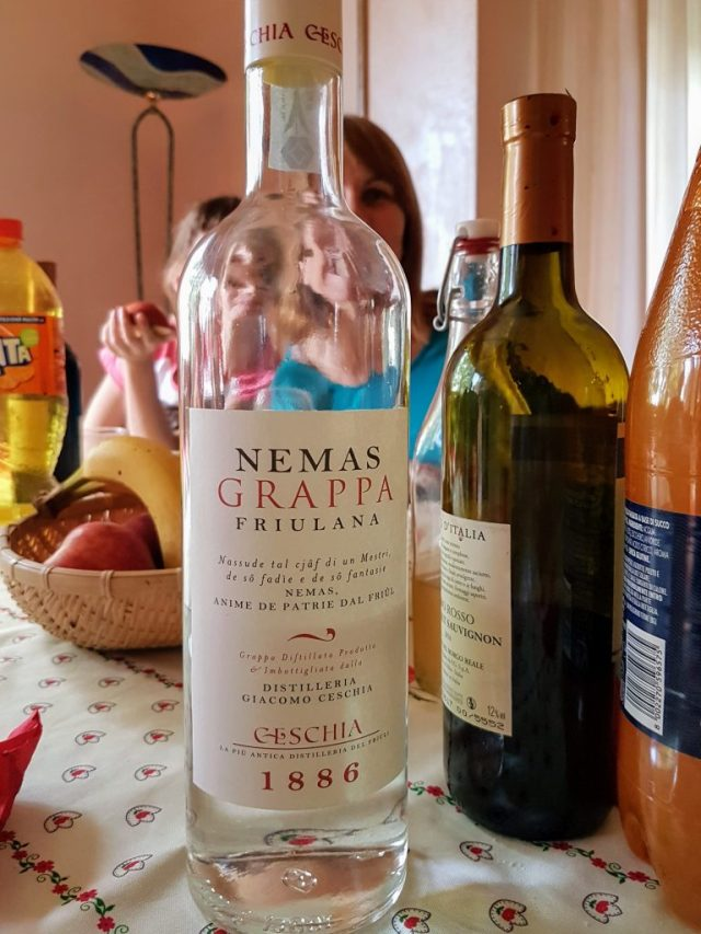Bottle of grappa