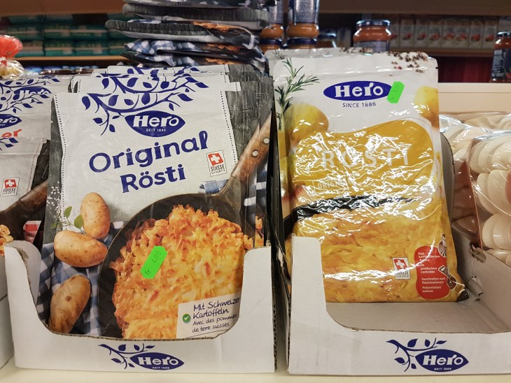 Rosti in the supermarket