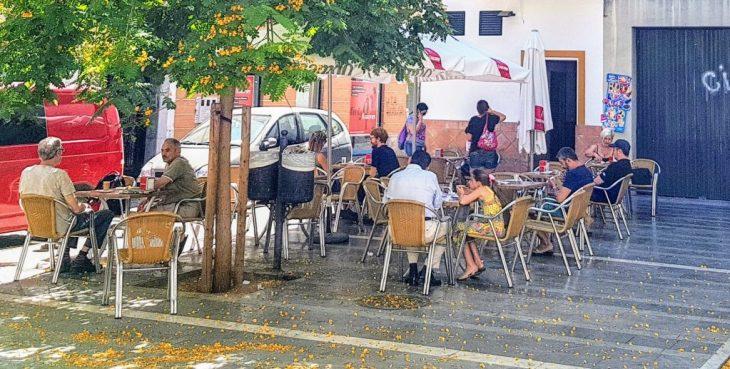 Lunch on Seville Spain