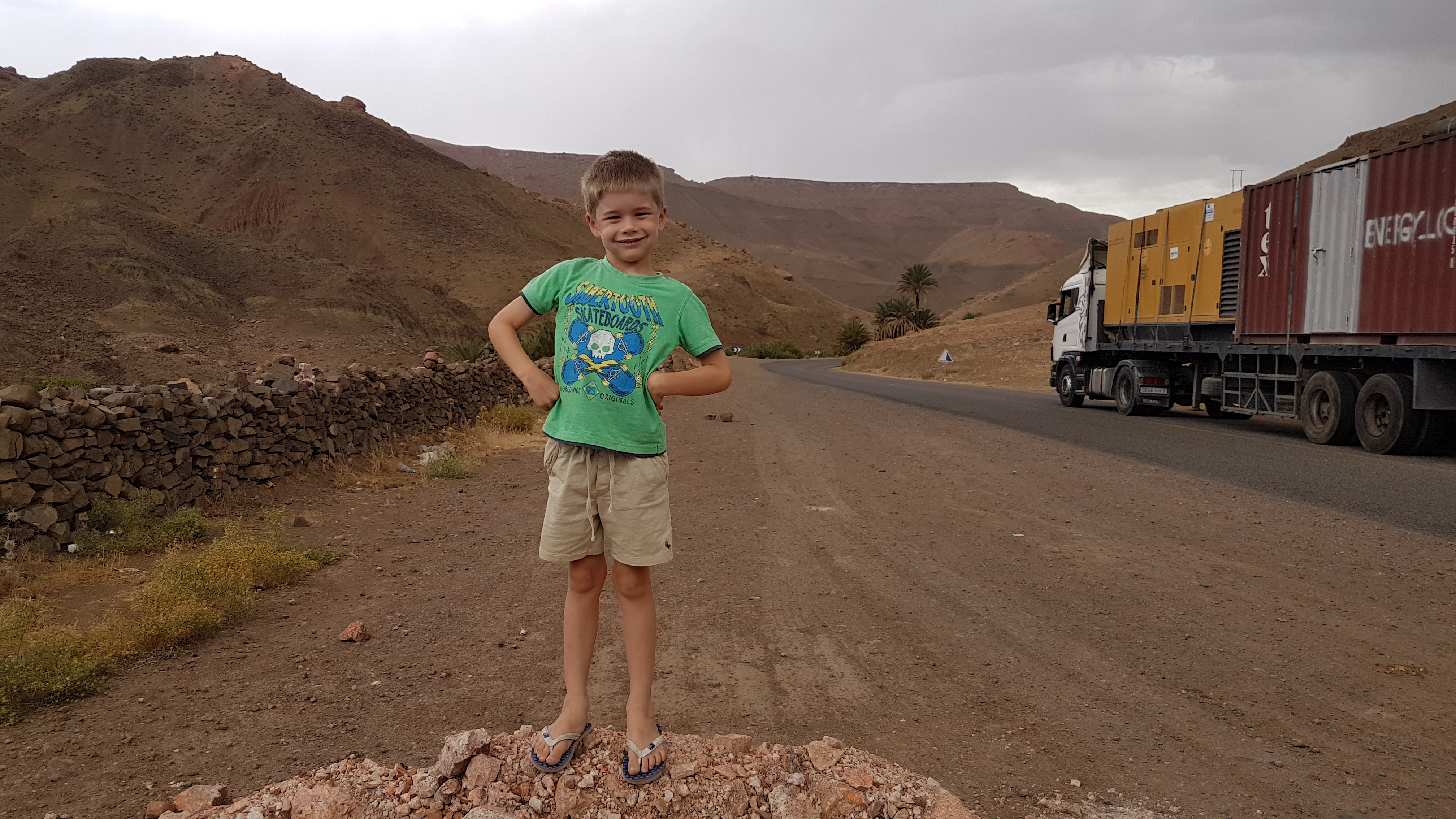 Not phased by one of the world's most dangerous roads