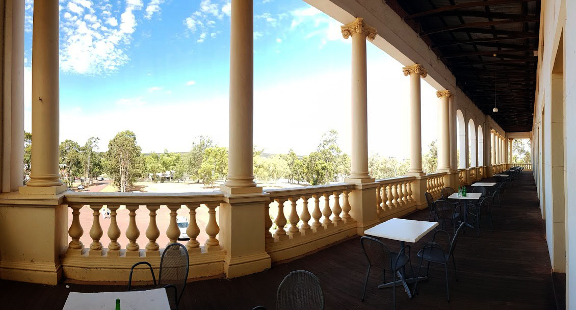 view from the hotel in new norcia