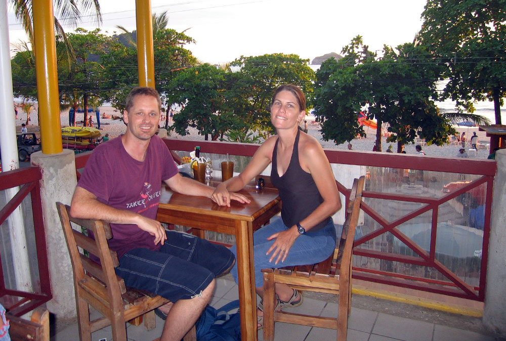 Having a drink in Costa Rica