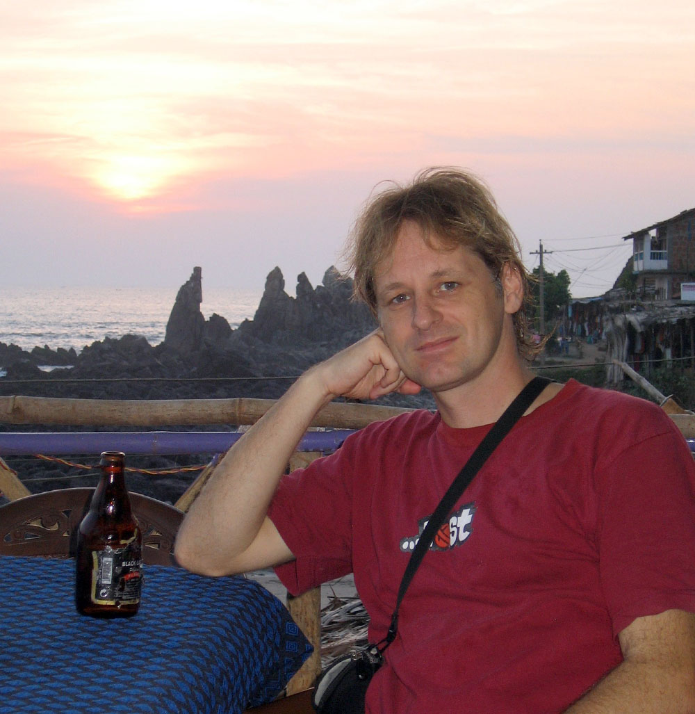 Having a beer in Goa India
