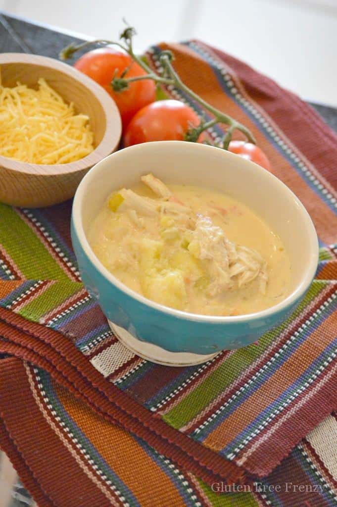 This Mexican corn chowder is easy to prepare and so full of flavor! It tastes authentic and is easy to serve to a crowd. Yum! glutenfreefrenzy.com