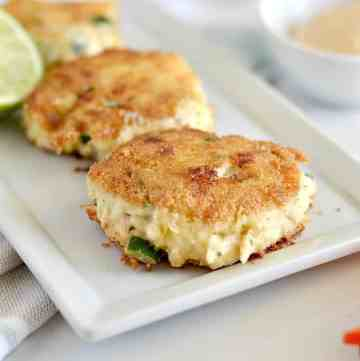 I love that these Whole30 gluten-free crab cakes are easy to whip up and a fun change to typical Whole 30 eats.