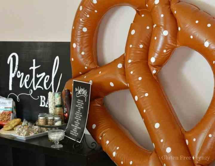 Pretzel Bar with inflatable pretzel