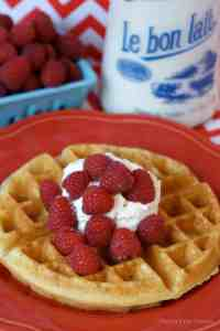 Gluten-Free Belgian Waffles with Buttermilk Syrup