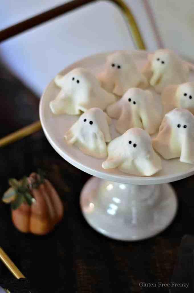 No-Bake Gluten-Free Ghost Cookies