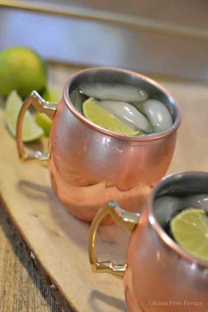 These mockscow mules are family friendly. They are mocktails instead of cocktails so no alcohol but still all the great flavors of a traditional moscow mule. www.glutenfreefrenzy.com