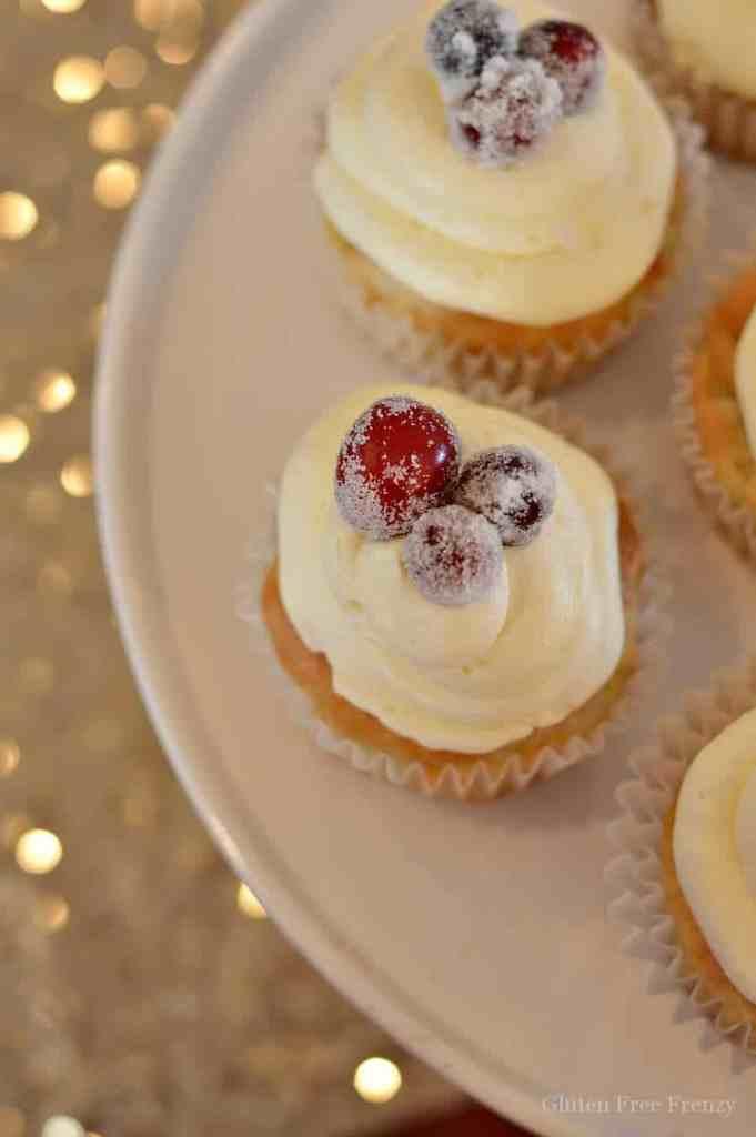 Gluten-Free Sparkling Cranberry Cupcakes | gluten-free cupcake recipes | gluten-free desserts | gluten-free new years eve desserts | gluten-free party treats || This Vivacious Life #glutenfreecupcakes #glutenfreedesserts #glutenfreenye