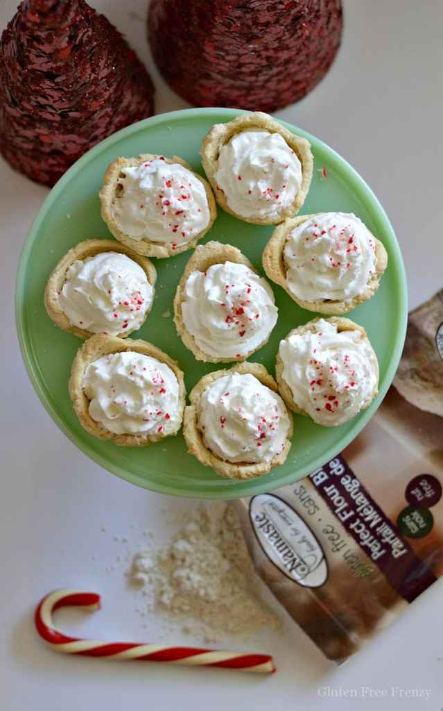 Gluten-free peppermint sugar cookie mousse cups are perfect for your next holiday gathering or cookie exchange. | peppermint dessert recipes | gluten-free holiday desserts | gluten-free cookie recipes | gluten-free peppermint recipes | gluten-free dessert recipes | gluten-free Christmas treats || This Vivacious Life #glutenfree #glutenfreedesserts #glutenfreeholiday #glutenfreecookies