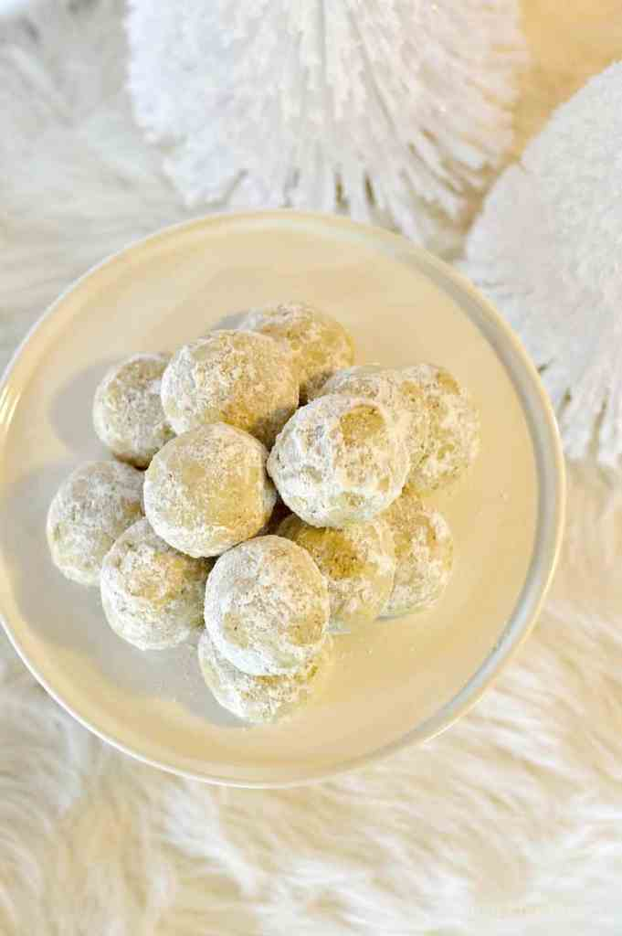 Our gluten-free snowball cookies are a fun way to get into the holiday spirit. They are simple, delicious and full of powdery white sugar.