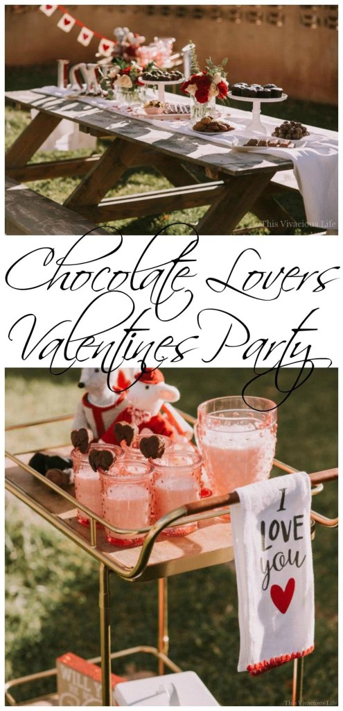 This chocolate lovers Valentines party is so easy to recreate and will be the most delicious celebration you have ever attended. | Valentine's Day parties for adults | Valentine's Day dinner ideas | Valentine's Day party ideas | how to host a Valentine's Day party || This Vivacious Life #valentinesdayparty #partyideas #chocolatelovers