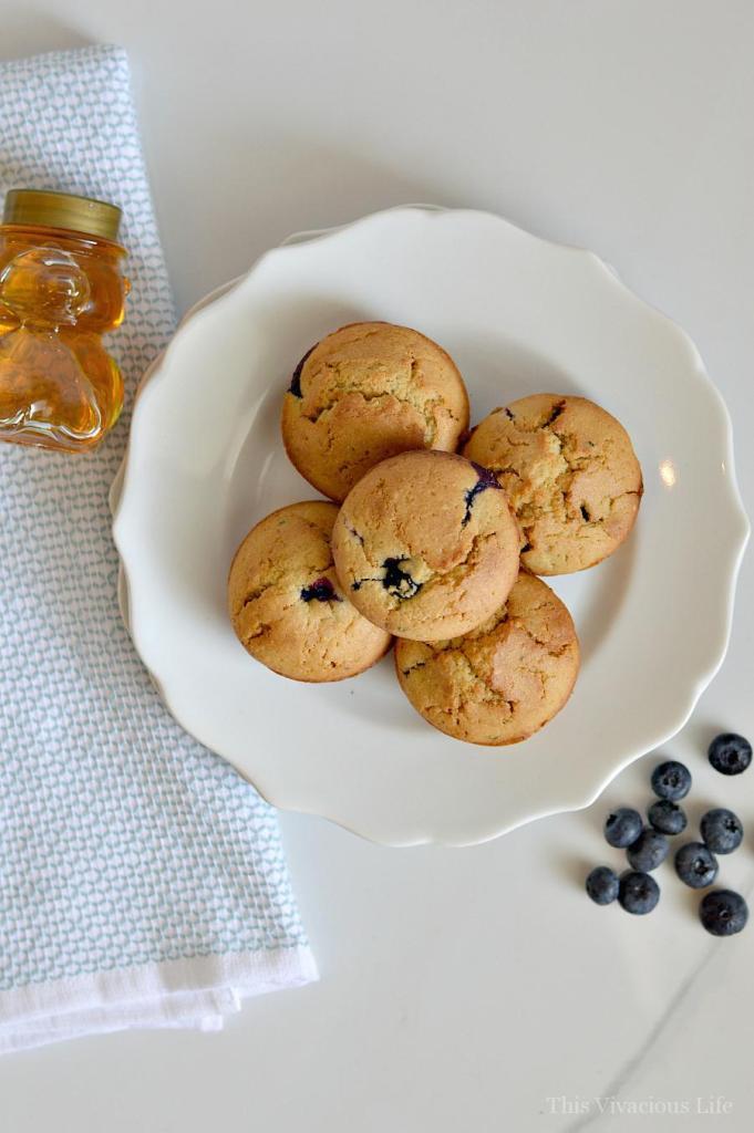 gluten-free dairy-free blueberry muffins | gluten-free muffin recipes | gluten-free breakfast recipes | dairy-free muffin recipes | dairy-free breakfast recipes || This Vivacious Life #glutenfreemuffins #dairyfreemuffins #glutenfreebreakfast